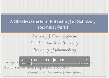 A 30 Step Guide to Publishing in Scholarly Journals