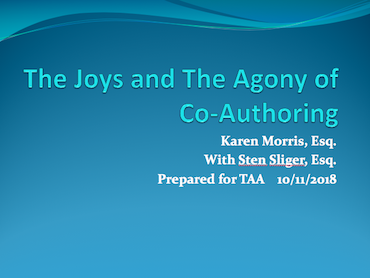 Joys and Agony of Coauthoring