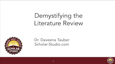 Demystifying the Literature Review