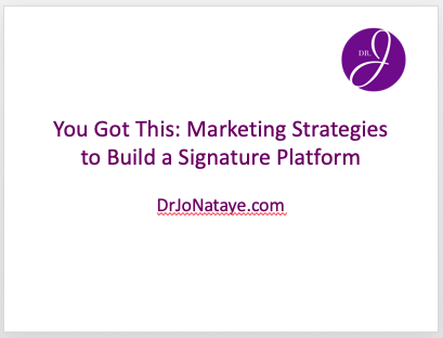 Marketing Strategies to Build a Signature Platform
