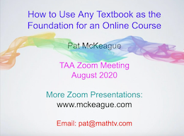 Use a Textbook as the Foundation for an Online Course