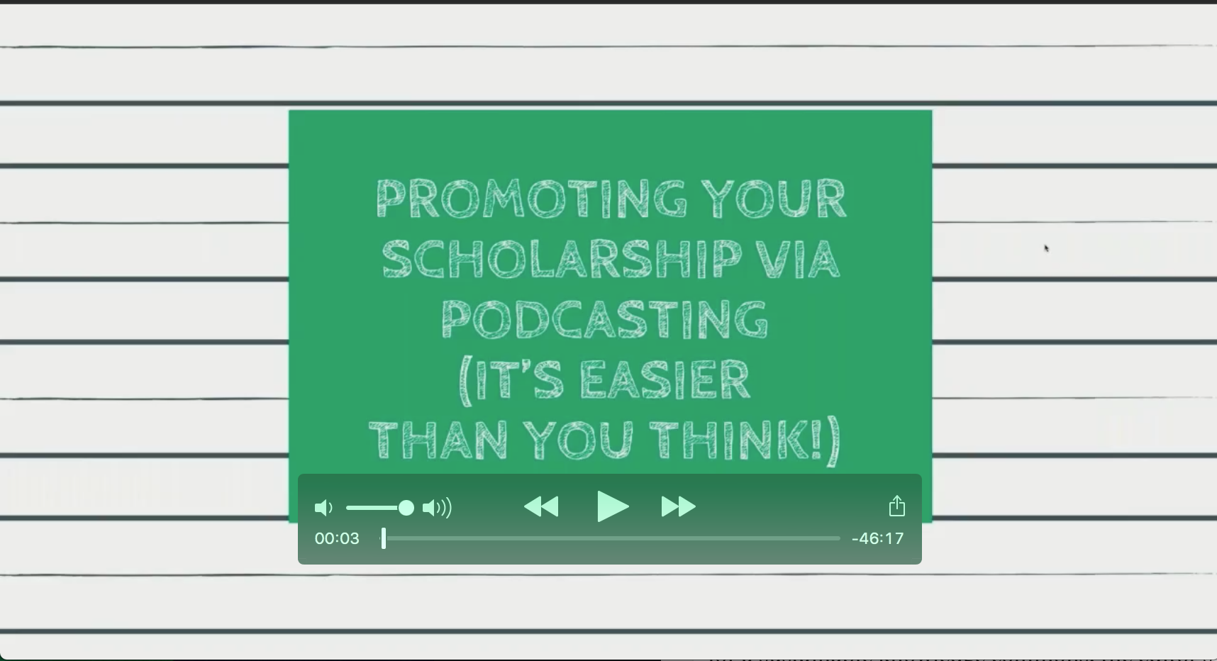 Promoting Your Scholarship Via Podcasting